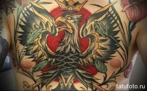 тату орел на грудной клетке значение