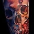 цветной череп тату 2