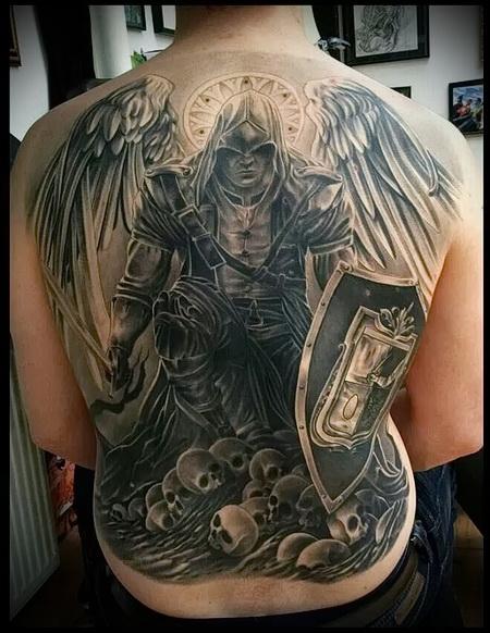 ангел воин тату 3