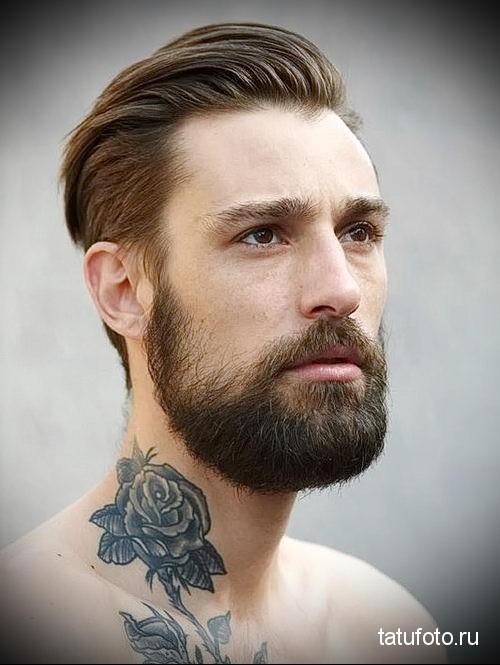 Бородатый парень рисунок