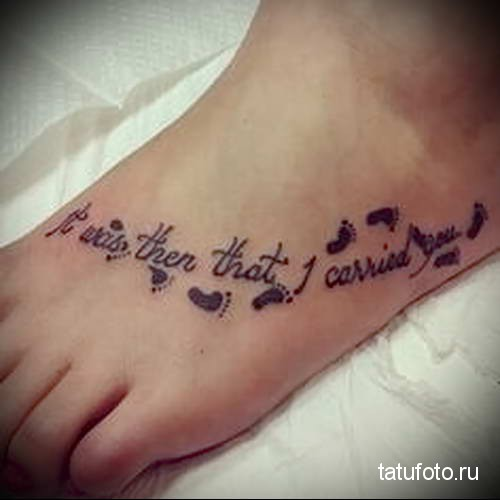 женская татуировка на стопе фото 5