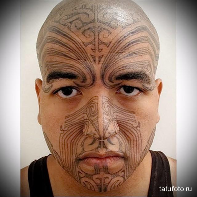 маори тату узоры на лице латиноса