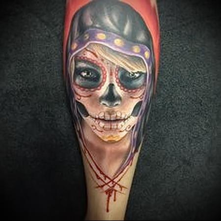 мексиканский череп тату 2