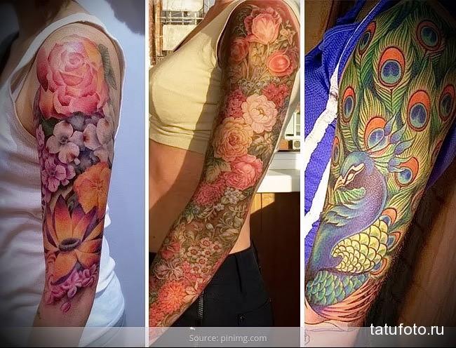 примеры татуировка на руку женская