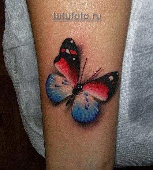 тату бабочки 3д