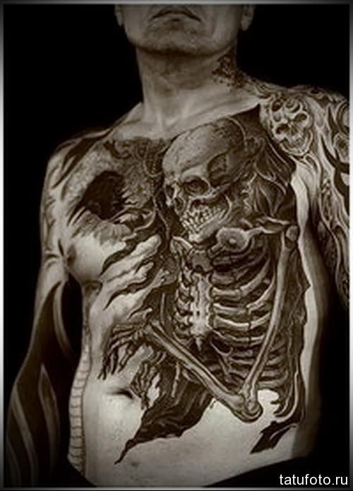 мужская тату переходом