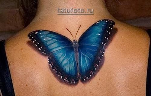 3d тату бабочка