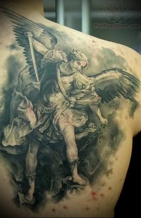 Angel warrior tattoo