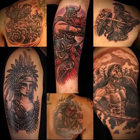 Russian warrior tattoo