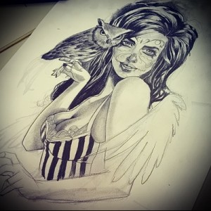 TATTOO GIRL drawing