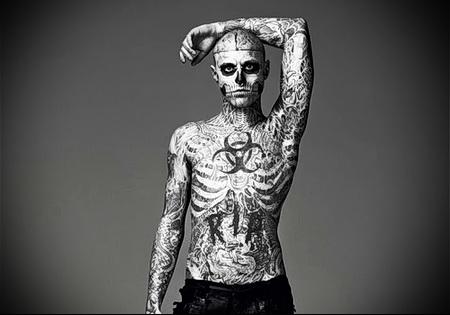 man skull tattoo