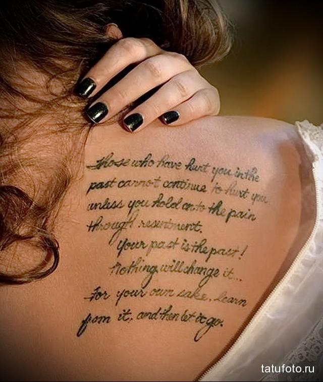 sign tattoo on shoulder blade