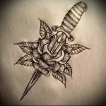 sketch of tattoo dagger