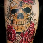 skull tattoo Old School