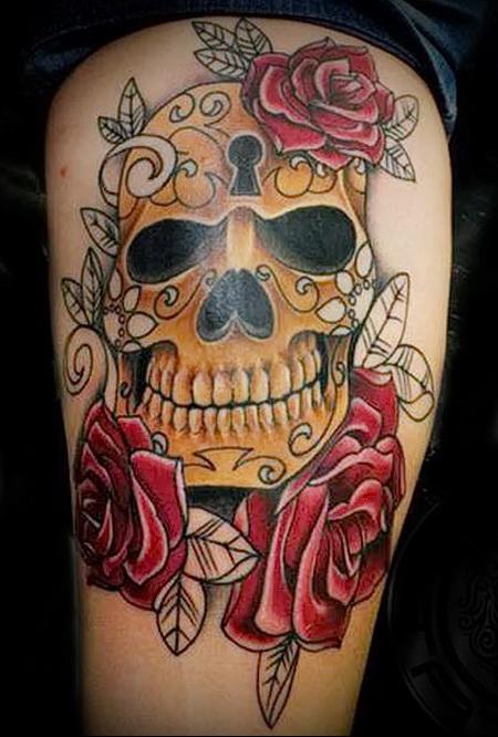 skull tattoo Old School