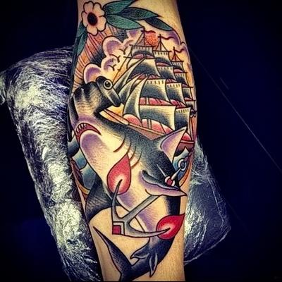 tattoo old school ship