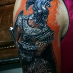 tattoo on the arm of warriors