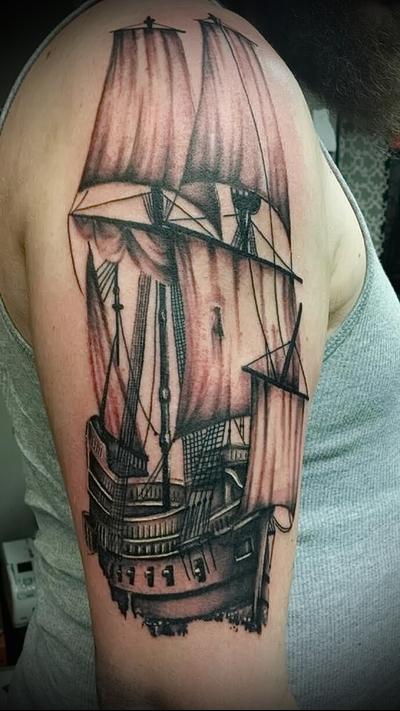 tattoo pirate ship