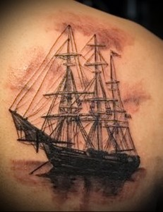 tattoo ship with sails