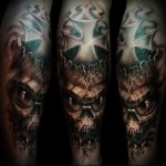tattoo skull with cross