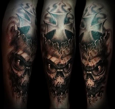 tattoo skull with cross