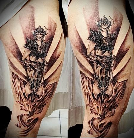 tattoo woman warrior