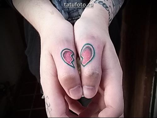 разбитое сердце татуировка