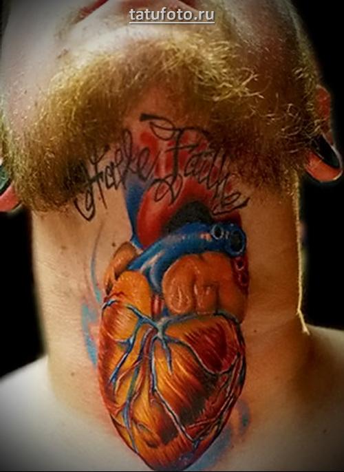 татуировка человеческое сердце