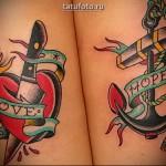 Татуировка якорь на ноге - женский вариант татуировки