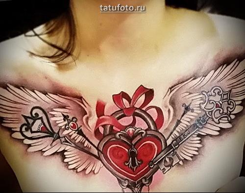 татуировка сердце с крыльями