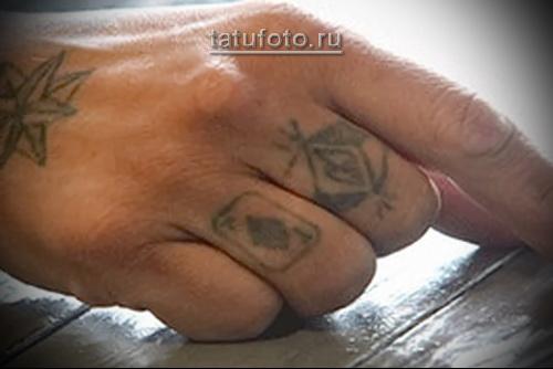 Зоновские наколки - перстни на пальцах