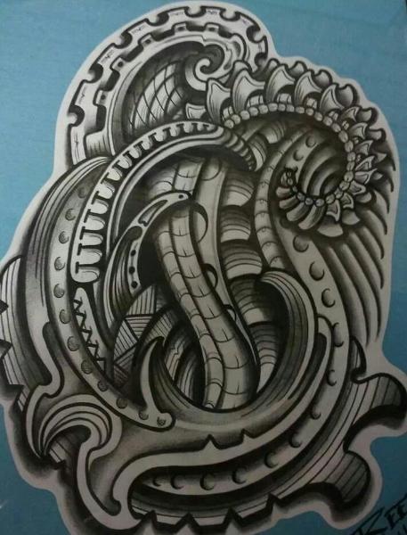 Полинезия тату эскизы - абстракция