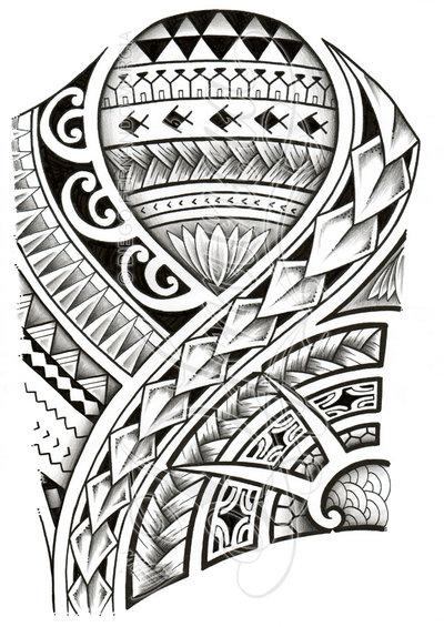 Полинезия тату эскизы - вариант на грудь