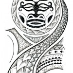 Полинезия тату эскизы - вариант на плечо