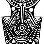 Полинезия тату эскизы - вариант на руку