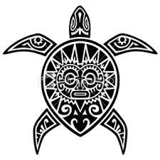Полинезия тату эскизы - черепаха с рисунком на панцире