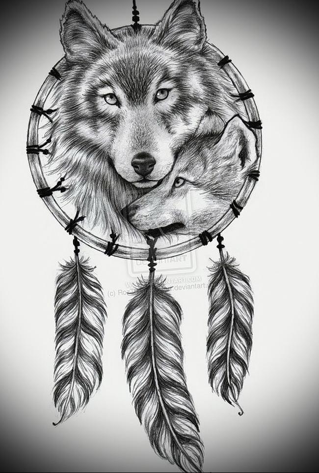 волки татуировки рисунки