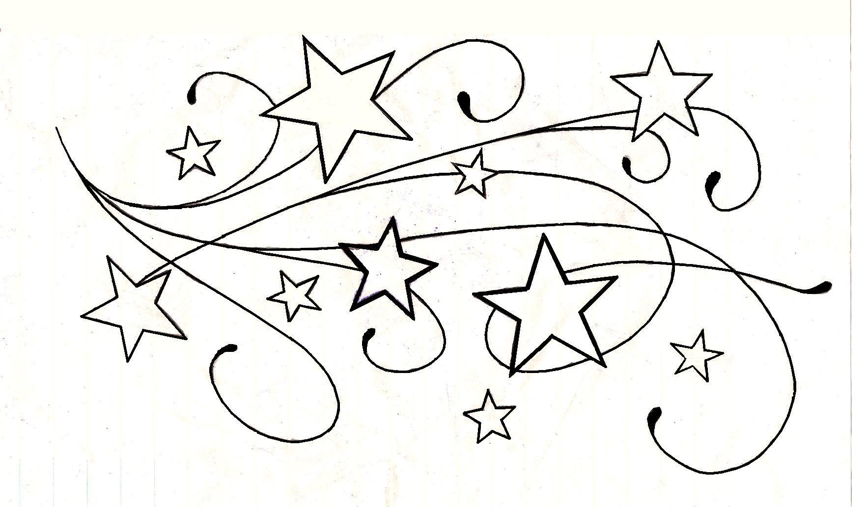 Небо звезды рисунок карандашом