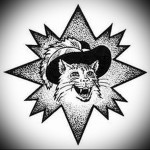 воровская татуировка Кот