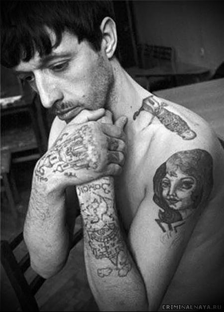 воровская татуировка Нож фото 1