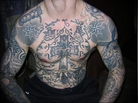 воровская татуировка Нож фото 2