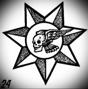 воровская татуировка Подключичные звезды фото