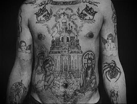 воровская татуировка Церковь