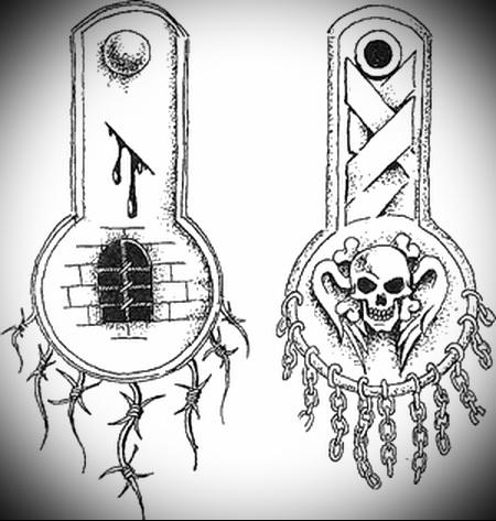 воровская татуировка Эполет фото 4