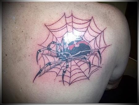воровская татуировка паук в паутине фото