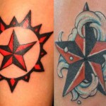 два примера татуировки со звездой