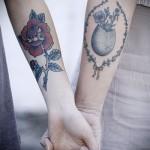 крутая парная татуировка для парня и девушки на руку