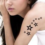 эскиз для татуировки на руку со звездами - женская