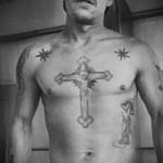 Воровские наколки 4 - тюремный крест на груди