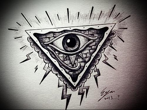 Всевидящее око тату классный эскиз
